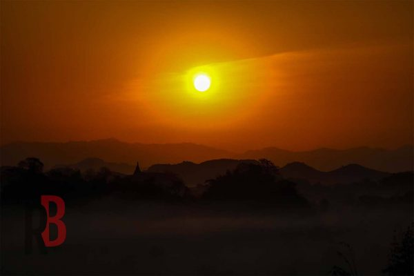myanmar mrauk sunset
