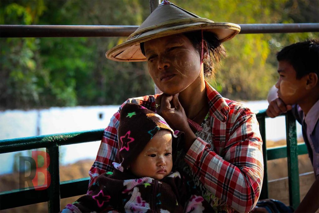 myanmar hpa-an woman and baby